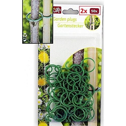 Lifetime 100 Pflanzenclips Pflanzenklammern Pflanzenringe Pflanzenbinder Pflanzenhalter Rankhilfe