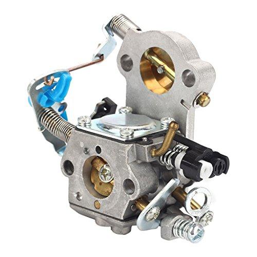 Fenteer Ersatz Carb Vergaser Kettensäge Carburetor Kettensäge Ersatzteile aus Metall für Husqvarna 455 460 Rancher Chainsaws Jonsered CS2255 544883001