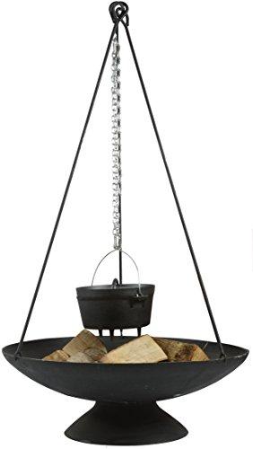 Esschert Design Dreibein für Feuerschale aus Eisen 6 x 5 x 118 cm Feuerschalen Zubehör Aufhängung für Kochtopf
