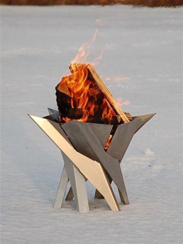 Svenskav Design-FeuerkorbFeuerschale Phoenix aus massivem Stahl Gr XXL