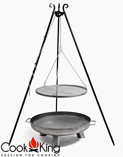 COOK KING BBQ Schwenkgrill Rohstahlrost 70cm  Feuerschale Bali 80 cm NEU