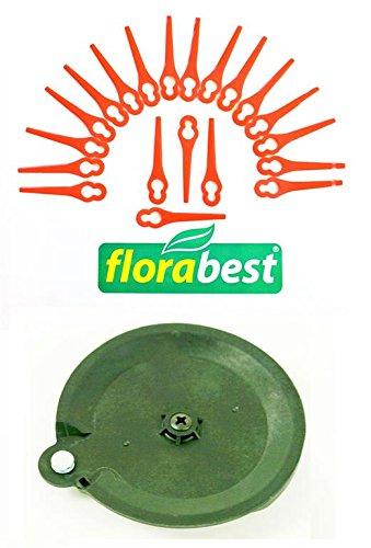 20 Messer 1 Schneidscheibe für Ihren Florabest LIDL Akku Rasentrimmer FAT 18 B2 IAN 95940 Schneidplättchen Plastik Messer Messerchen Plaste PA6
