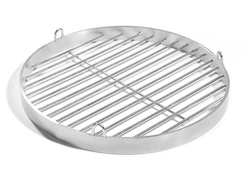 70cm Grill mit Halteösen Edelstahl V2A Schwenkgrill Schwenker Grillrost Feuerschalen Grillschalen Rundgrill