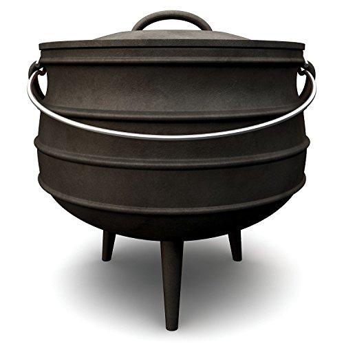BBQ-TORO Potjie verschiedene Größen zur Auswahl Gusseisen Kochtopf Südafrikanischer Dutch Oven Potjie 1 ca 3 Liter