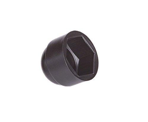 25 Stck Schutzkappen für Schrauben M12 für Schlüssel 19 Schwarz Abdeckkappen Blindstopfen Endkappen