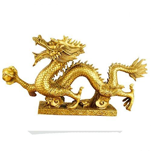 Chinesische Drachen-FigurStatue Messing Dekoration