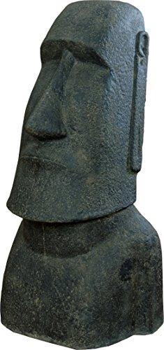 korboutlet Moai Kopf SteingussOsterinseln Statue 100 cm Figur für Haus und GartenGartenskulpturen Stein GussFiguren 100 cm