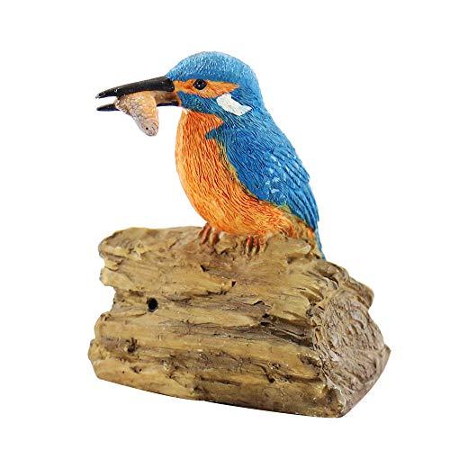 oamore Harz Wirklicher Effekt Wirkung Vogel Skulptur Ornamente Deko Artikel Garten Tier Vogel Figur Statue C