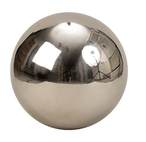 XXL Dekokugel Silberkugel ca Ø 30 cm Silber glanz aus Edelstahl Rosenkugel Garten Kugel Weihnachten